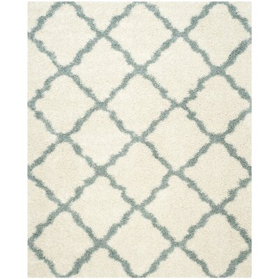 Charmain Ivory/Light Blue Area Rug Rug Size: Rectangle 8 x 10