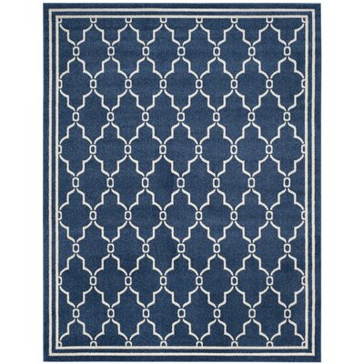 Maritza Navy/Beige Indoor/Outdoor Area Rug Rug Size: Rectangle 8 x 10