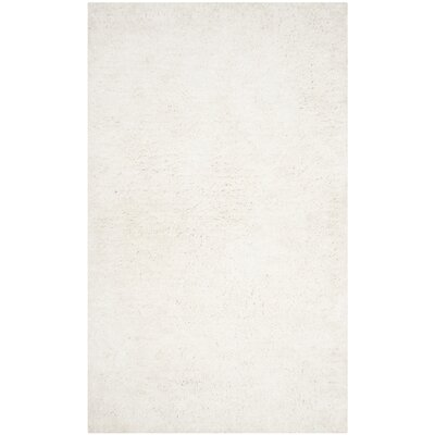 Bilgarrie Hand-Tufted White Area Rug Rug Size: Rectangle 5 x 8