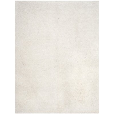 Bilgarrie Hand-Tufted White Area Rug Rug Size: Rectangle 8 x 10