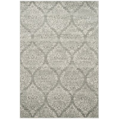 Augustus Gray/Silver Area Rug Rug Size: Rectangle 51 x 76