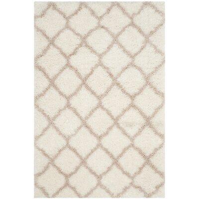 Rivers Ivory/Mushroom Area Rug Rug Size: Rectangle 4 x 6