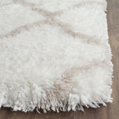 Rivers Ivory/Mushroom Area Rug Rug Size: Rectangle 51 x 76
