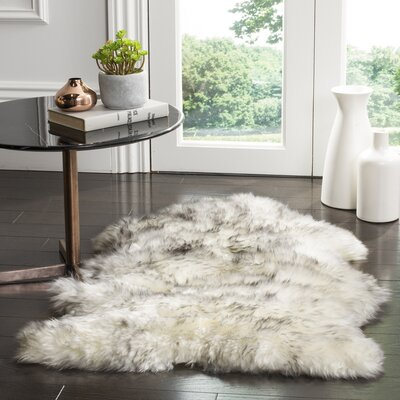 Dax Ivory / Smoke Gray Area Rug Rug Size: Rectangle 2 x 3