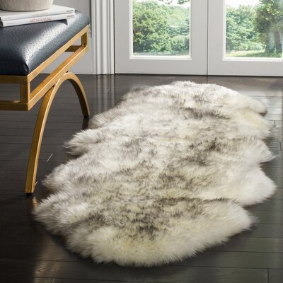 Dax Ivory / Smoke Gray Area Rug Rug Size: Runner 2 x 6