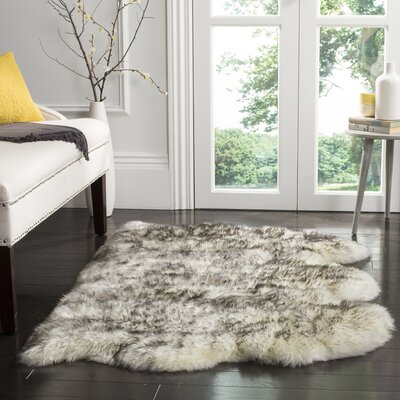 Dax Ivory / Smoke Gray Area Rug Rug Size: Rectangle 3 x 5