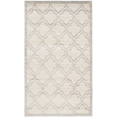 Maritza Geometric Ivory/Light Gray Indoor/Outdoor Area Rug Rug Size: Rectangle 3 x 5