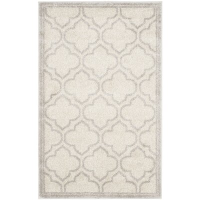 Maritza Geometric Ivory/Light Gray Indoor/Outdoor Area Rug Rug Size: Rectangle 26 x 4