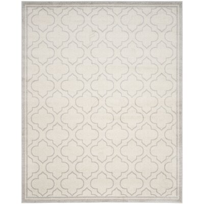 Maritza Geometric Ivory/Light Gray Indoor/Outdoor Area Rug Rug Size: Rectangle 8 x 10