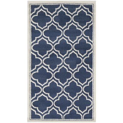 Maritza Navy / Ivory Indoor/Outdoor Area Rug Rug Size: Rectangle 26 x 4