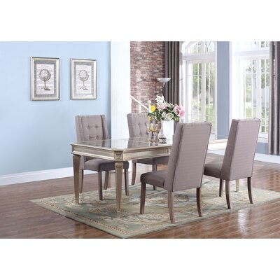 Brette 5 Piece Dining Set Upholstery Color: Otter