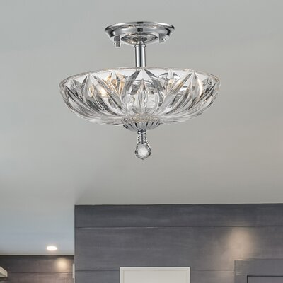 Aadvik 3 Light Semi Flush Mount