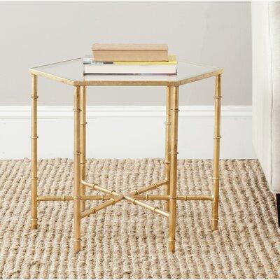 Blackshale Side Table Color: Gold / Clear
