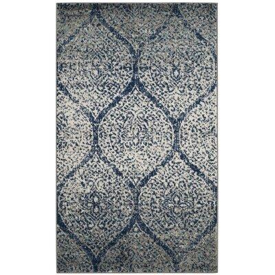 Beachborough Blue/Gray Area Rug Rug Size: Rectangle 3 x 5