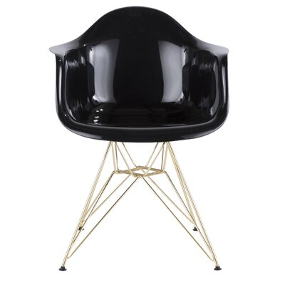Jackson Armchair Finish: Black/Gold