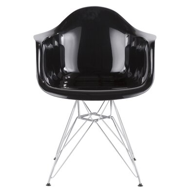 Aguinaldo Armchair Finish: Black/Chrome