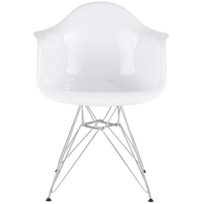 Jackson Armchair Finish: White/Chrome