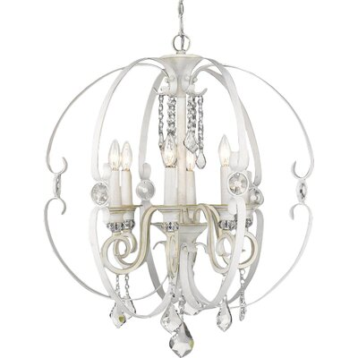 Hardouin 6-Light Foyer Pendant Finish: French White