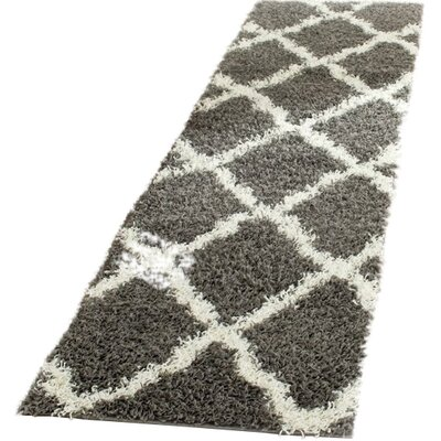 Charmain Dark Gray/Ivory Area Rug Rug Size: Runner 23 x 10