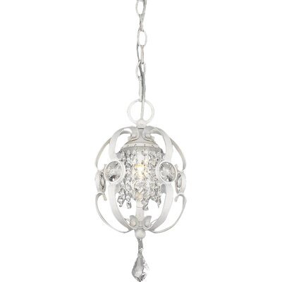 Hardouin 1-Light Foyer Pendant Finish: French White