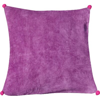 Yvonne Poms Velvet Throw Pillow Cover Size: 20 H x 20 W x 1 D, Color: PurplePink