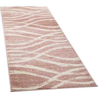 Graciano Pink/Beige Area Rug Rug Size: Runner 26 x 8