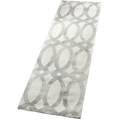 Tadashi Hand-Woven Wool Navy Blue/Light Gray Area Rug Rug Size: Runner 26 x 8
