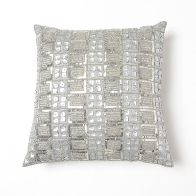 Samarth Sequin Pillow Cover Color: Silver
