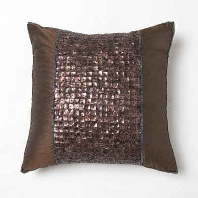 Samarth Square Pillow Cover Color: Dark Chocolate