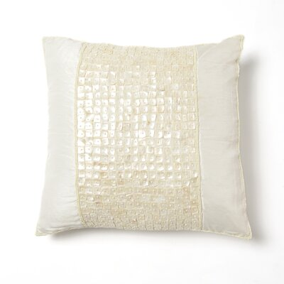 Samarth Square Pillow Cover Color: Ivory