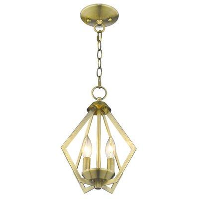 Borasisi 2-Light Foyer Pendant Finish: Antique Brass