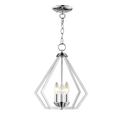 Borasisi 3-Light Foyer Pendant Finish: Polished Chrome