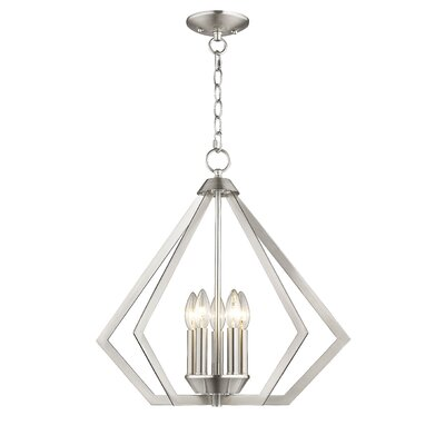 Borasisi 5-Light Foyer Pendant Finish: Brushed Nickel