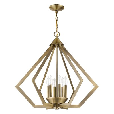 Fantine 6-Light Foyer Pendant Finish: Antique Brass