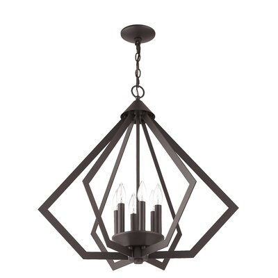 Fantine 6-Light Foyer Pendant Finish: Bronze