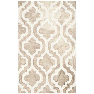 Blakeston Hand-Tufted Beige/Ivory Area Rug Rug Size: Rectangle 26 x 4