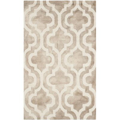 Blakeston Hand-Tufted Beige/Ivory Area Rug Rug Size: Rectangle 3 x 5