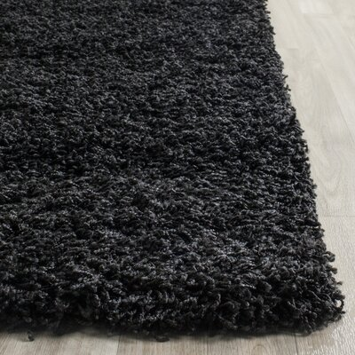 Beldon Power Loom Black Area Rug Rug Size: Rectangle 8 x 10