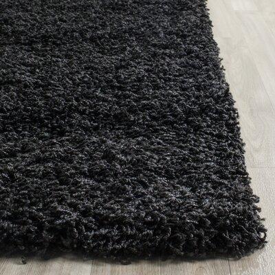 Beldon Power Loom Black Area Rug Rug Size: Rectangle 8' x 10'