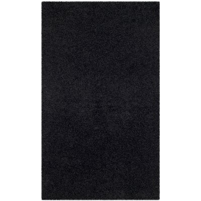 Beldon Power Loom Black Area Rug Rug Size: Rectangle 3 x 5