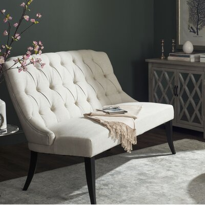 Courtnay Settee Upholstery: Light Taupe