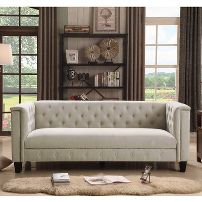 Broughtonville Tufted Chesterfield Sofa Upholstery: Milky Beige