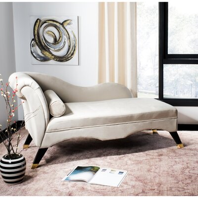 Melania Chaise Lounge Upholstery: Tan