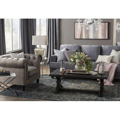 Pascoe Blue/Grey & Silver Area Rug Rug Size: Rectangle 710 x 112