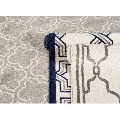 Maritza Ivory/Grey Outdoor Area Rug Rug Size: Rectangle 5 x 8