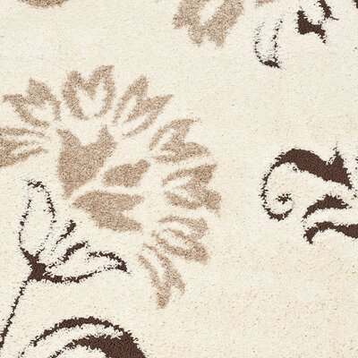 Eulalia Cream Area Rug Rug Size: Rectangle 53 x 76