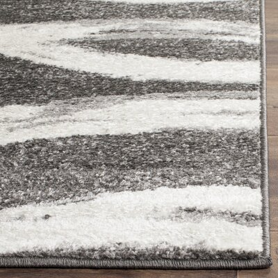 Graciano Ivory/Gray Area Rug Rug Size: Rectangle 51 x 76