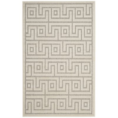 Apollina Light Gray/Cream Indoor/Outdoor Area Rug Rug Size: Rectangle 33 x 53
