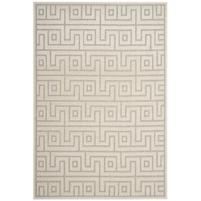 Apollina Light Gray/Cream Indoor/Outdoor Area Rug Rug Size: Rectangle 53 x 77