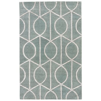 Blondell Blue & Gray Geometric Area Rug Rug Size: Rectangle 36 x 56